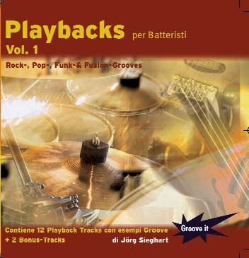 CD-Cover Playbacks per batteristi Vol.1 - Funk Rock Fusion Pop