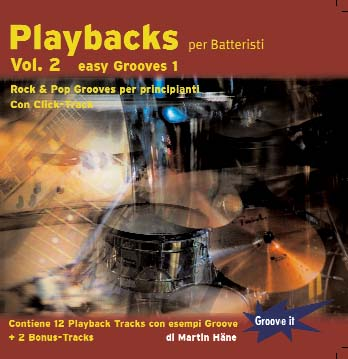 CD-Cover Playbacks per batteristi Vol.2 - Rock Pop