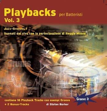 CD-Cover Playbacks per batteristi Vol.3 - Jazz Grooves 1