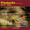 CD-Cover Playbacks für Drummer Vol.5 - Blues - von New Orleans bis Shuffle-Rock